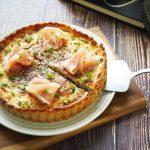 玄米マルチミックスパウダーレシピ「きのこと生ハムの玄米キッシュ」