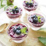 玄米レシピ「ブルーベリーレアチーズケーキ」