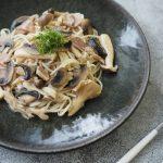 玄米レシピ「きのこの和風スープパスタ」