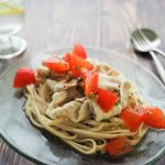 玄米レシピ「トマトの冷しゃぶパスタ」
