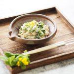 玄米レシピ「菜の花の白和え」