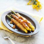 玄米レシピ「豚バラのアスパラ焼き」