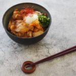 玄米パウダーレシピ「豚バラキムチ丼」