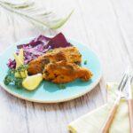 玄米パンレシピ「鮭のカレーパン粉焼き」